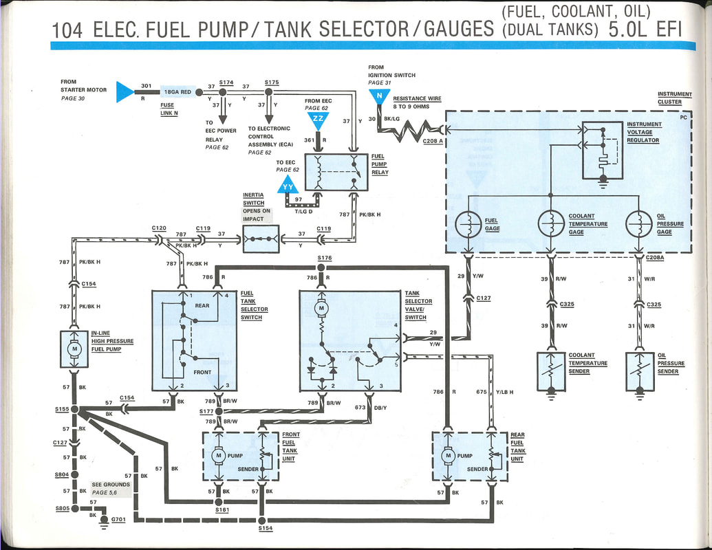 Fuel System Wiring Garys Garagemahal The Bullnose Bible Ford Tank Selector Valve Diagram Picture