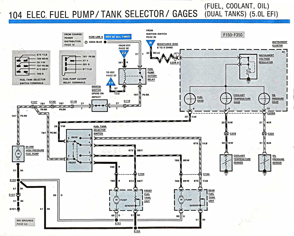fuel system wiring gary\u0027s garagemahal (the bullnose bible) 7.3 powerstroke engine diagram wiring diagram for 1997 ford f250 get