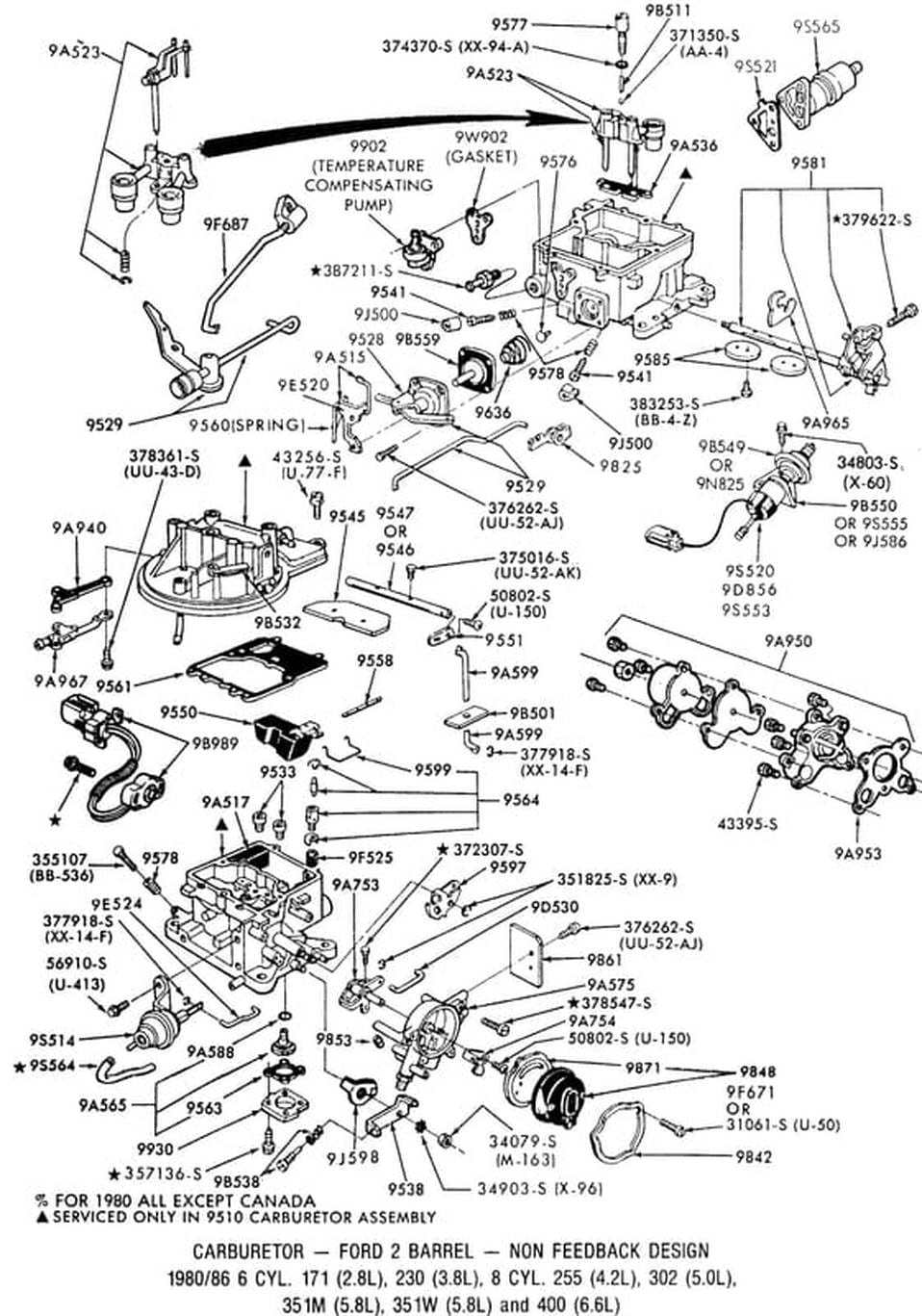 1983 Ford Ranger Carburetor Diagram