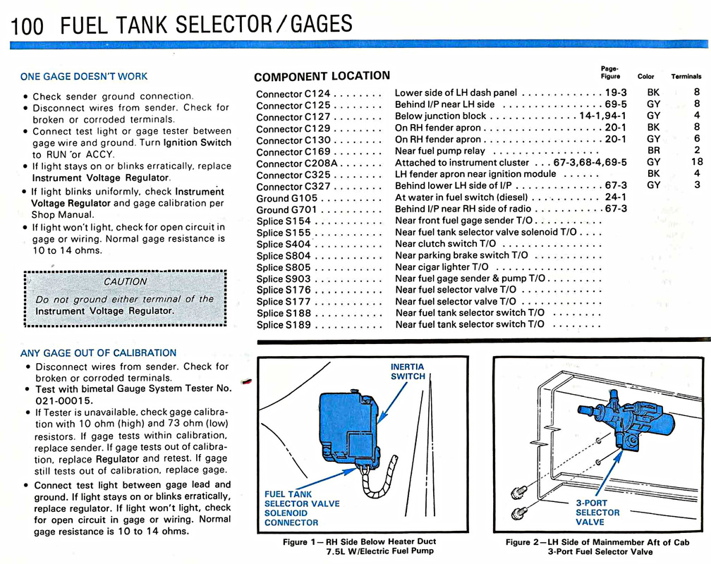 Fuel Tank Selector Gauges Garys Garagemahal The Bullnose Bible Ford Valve Wiring Diagram Picture