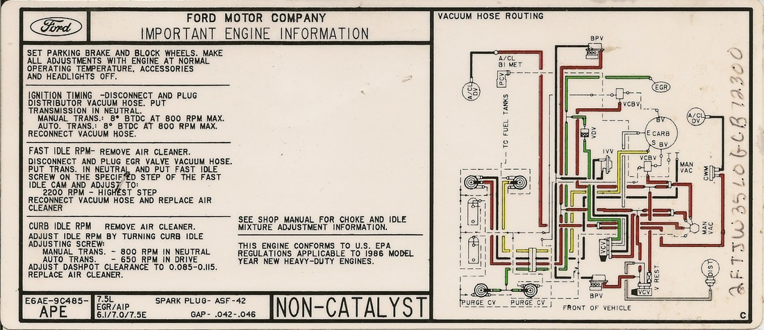 460 v8 gary s garagemahal  the bullnose bible F350 Super Duty Fuse Diagram 1986 ford f350 fuse box diagram