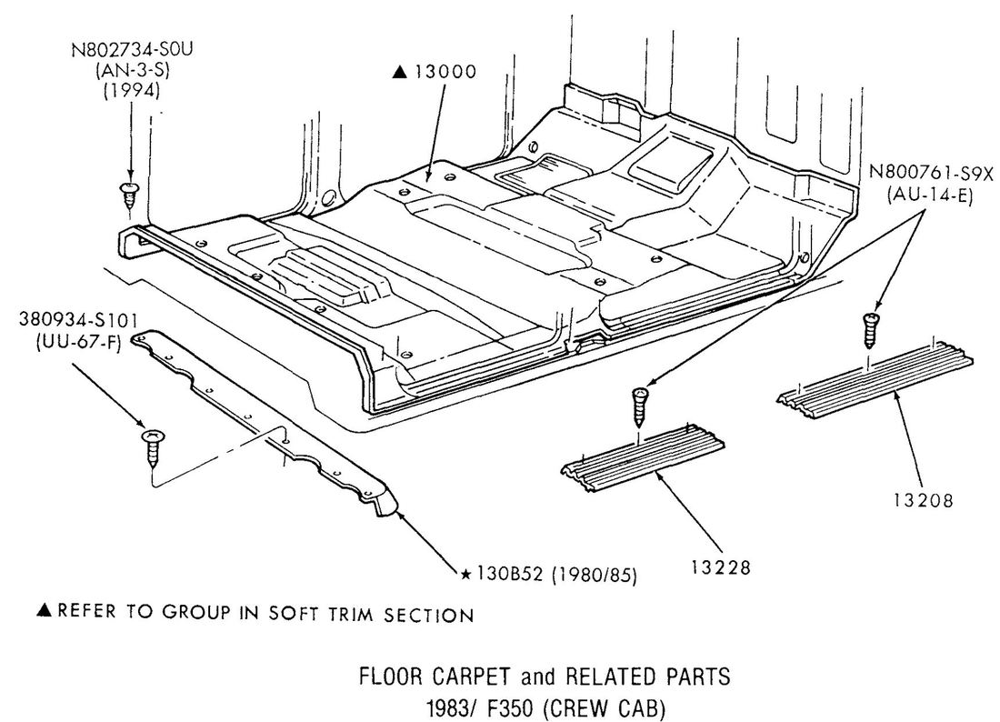 Floor Carpet and Related Parts