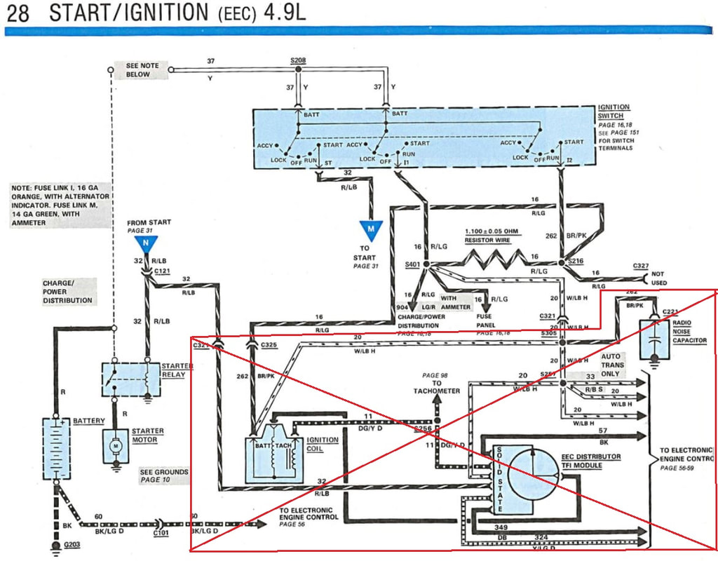 Ignition - Gary's Garagemahal (the Bullnose bible) | 1980 Ford Ignition Wiring Diagram Schematic |  | Bullnose Forum