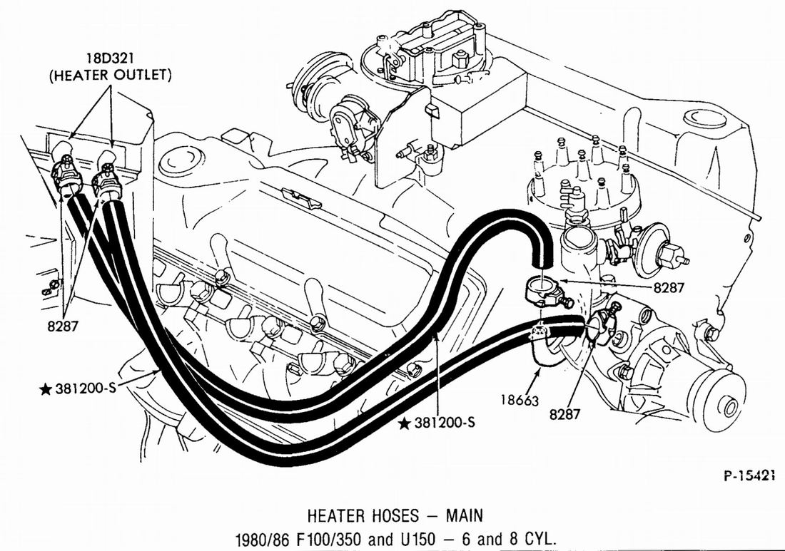2001 Chevy Venture Heater Hose Diagram