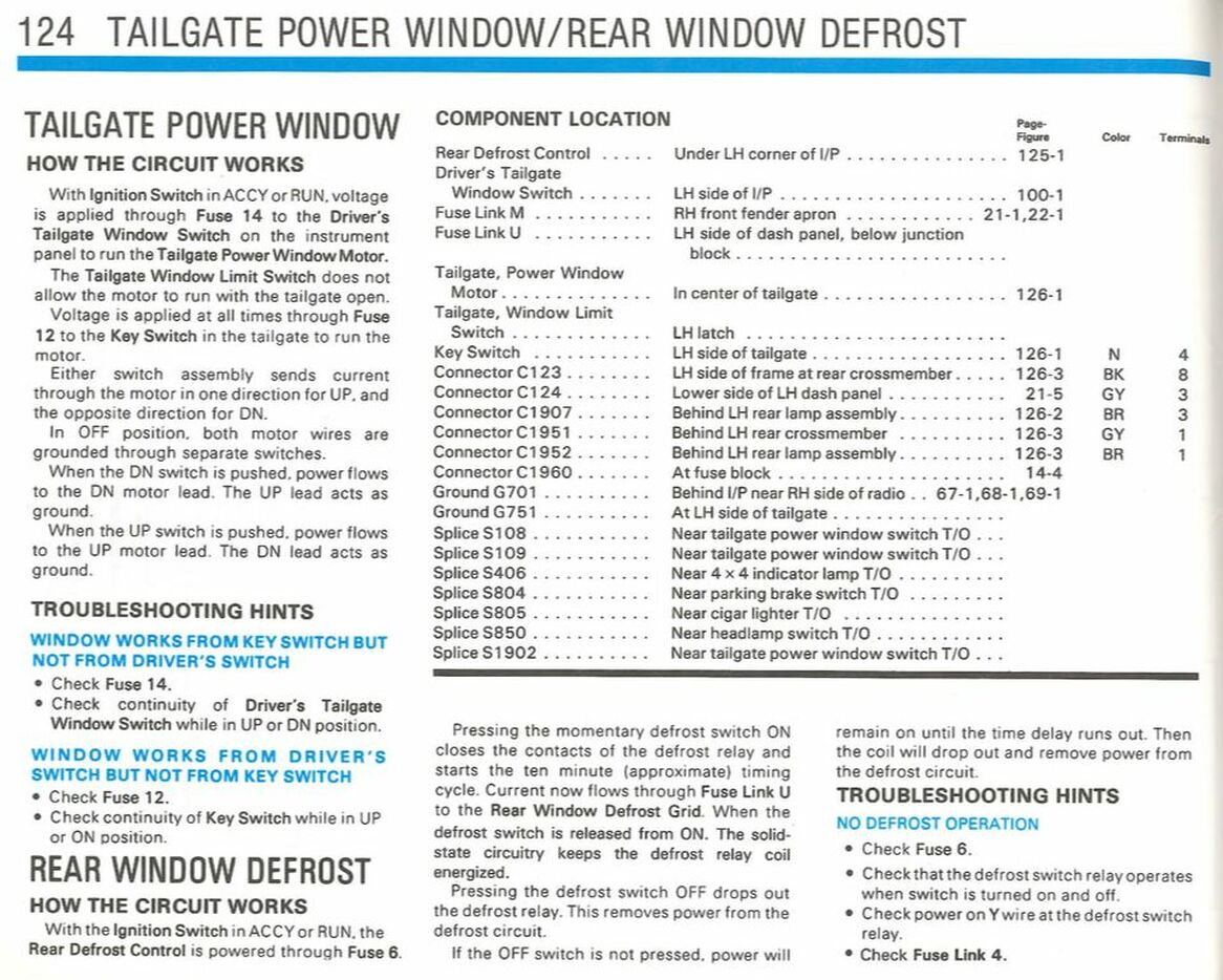 Tailgate Power Window Rear Window Defrost Gary S Garagemahal The Bullnose Bible