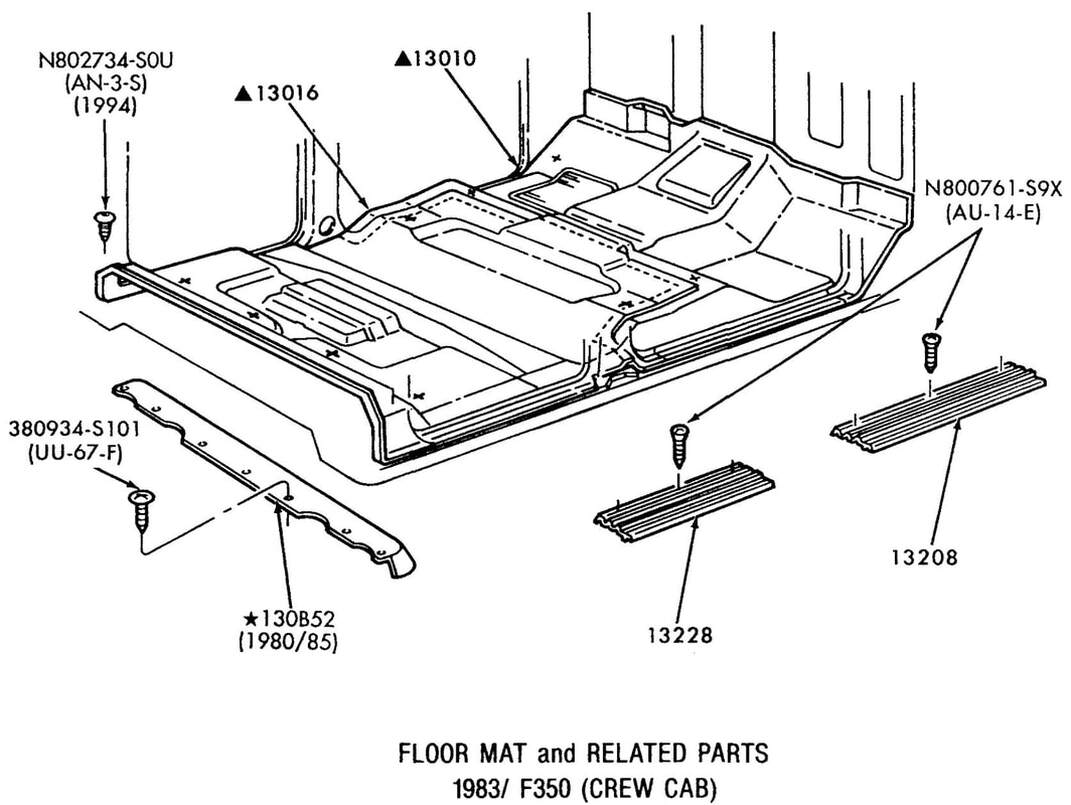 Floor Mats and Related Parts