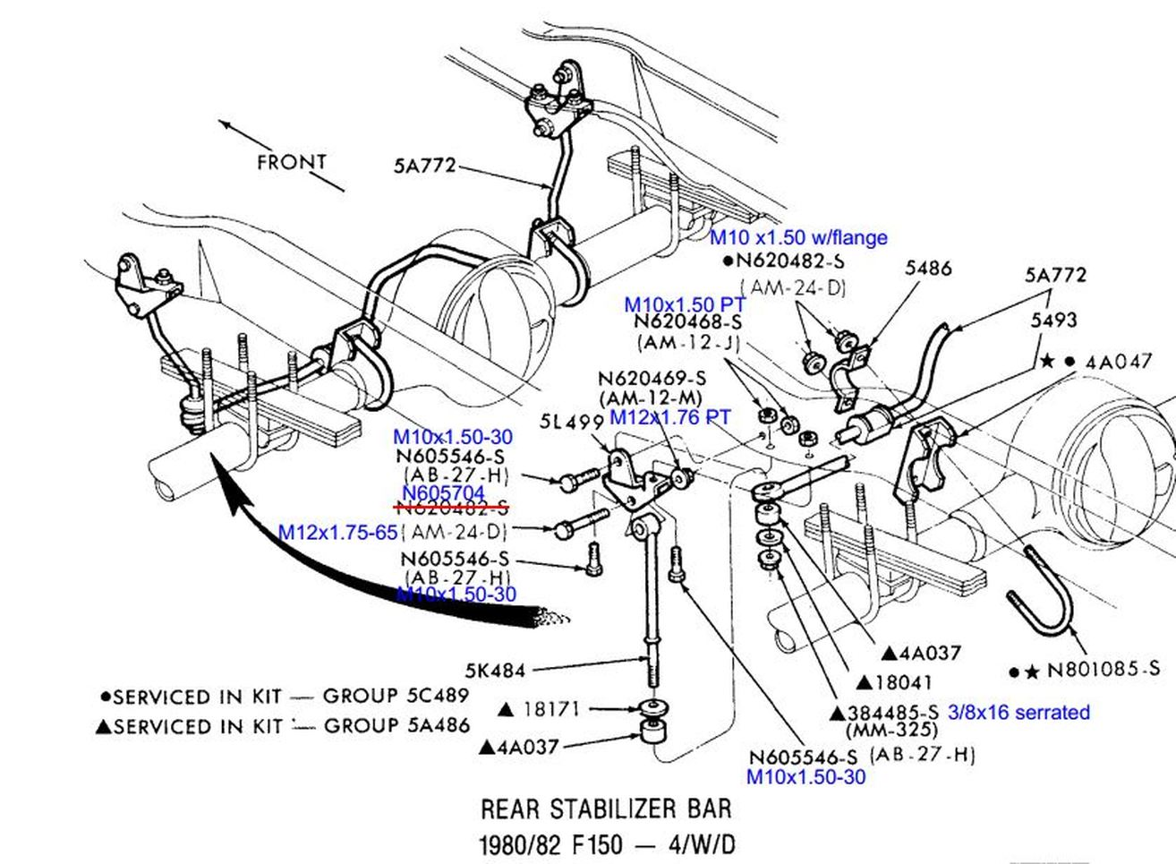 Rear Sway Bar on ford alternator brackets to mount low