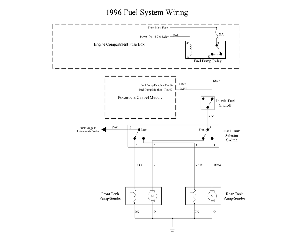 Fuel System Wiring Garys Garagemahal The Bullnose Bible 85 Steering Column Diagram Ford Truck Picture